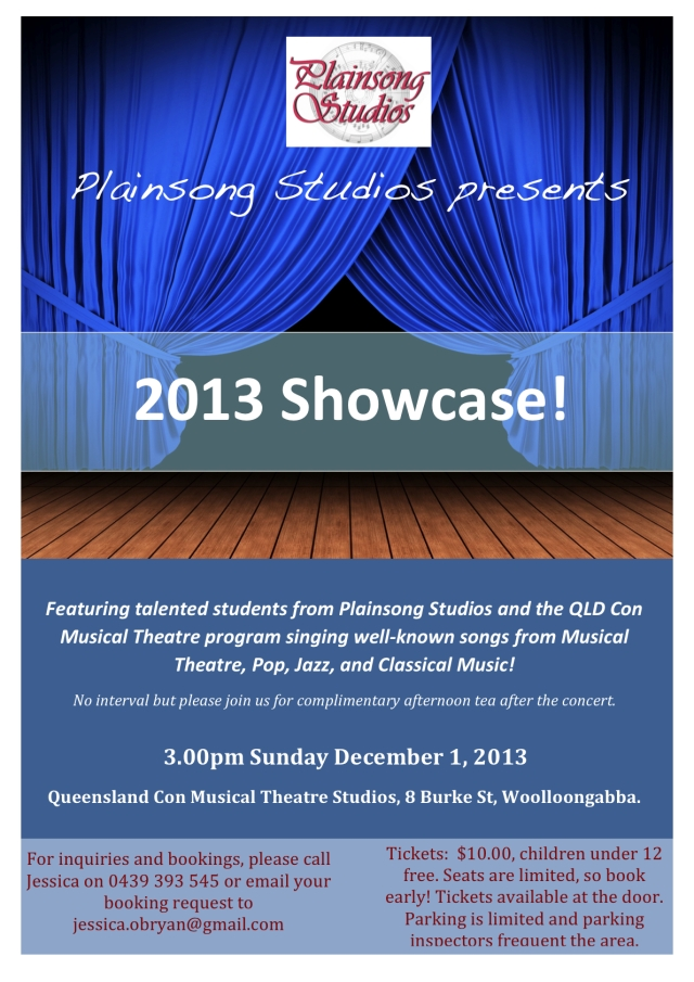 2013 Showcase Concert Flyer